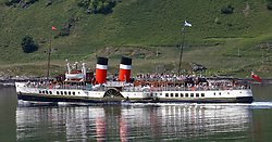 Waverley is one of the world's greatest historic ships – the last sea-going paddle steamer in the world. Waverley starts her season sailing amidst the stunning scenery of the Western Isles . A packed Waverley seen here departing Oban for an afternoon cruise to The Corryvreckan Whirlpool (c) Stephen Lawson | Edinburgh Elite media