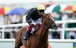 File photo dated 10-09-2021 of Stradivarius ridden by Frankie Dettori winning the Doncaster Cup Stakes. Trueshan and Stradivarius will renew their rivalry at Ascot on Saturday after both stood their ground for the Qipco British Champions Long Distance Cup. Issue date: Thursday October 14, 2021.