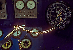 Stock photo of gauges on machinery at a work site