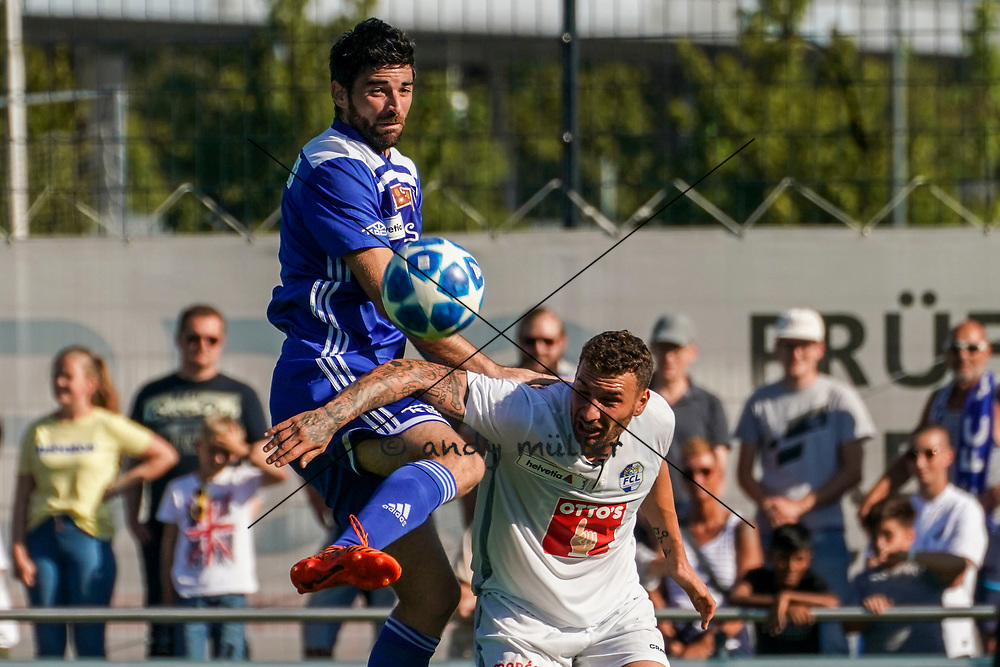 15.09.2019; Wohlen; FUSSBALL SCHWEIZER CUP - FC Wohlen - FC Luzern;<br /> Marko Muslin (Wohlen) Francesco Margiotta (Luzern) <br /> (Andy Mueller/freshfocus)
