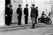 13/02/1964<br /> 02/13/1964<br /> 13 February 1964<br /> British Ambassador presents Credentials at Aras an Uachtarain. Picture shows Sir Geofroy Tory, K.C.M.G., the new ambassador being saluted by Lieut. Sean Kennedy, 5th Battalion, before accompanying him on an inspection of the Guard of Honour.