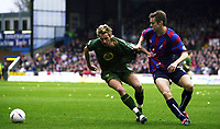 PHOTO:ALAN CROWHURST.<br />CRYSTAL PALACE V NORWICH.NATIONWIDE DIVISION 1.20/03/2004.DARREN HUCKERBY TUGGING WITH DANNY GRANVILLE.