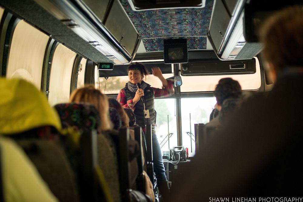 Lane Selman leads the Organicology Farm Tour.