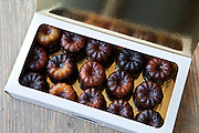 Speciality French patisserie gateau cakes from Bordeaux in France, Le Canele de Bordeaux, in gift box