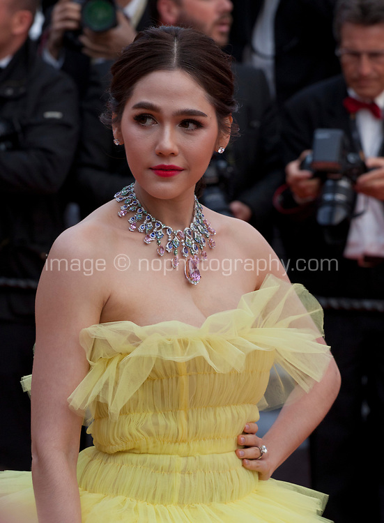 Araya Hargate at the Le Grand Bain (Sink Or Swim) gala screening at the 71st Cannes Film Festival, Sunday 13th May 2018, Cannes, France. Photo credit: Doreen Kennedy