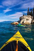 Kayaking on Lake Tahoe, DL Bliss State Park, California USA