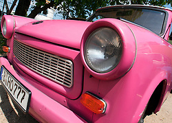 Detail of old East German Trabant car in Berlin Germany
