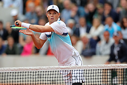 May 30, 2019 - Paris, France - Neal Bryan (GBR) attacks the net during the French Open Tennis at Stade Roland-Garros, Paris on Thursday 30th May 2019. (Credit Image: © Mi News/NurPhoto via ZUMA Press)