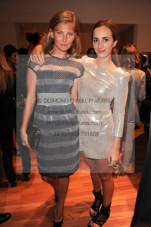 Left to right, ELIZABETH VON GUTTMAN and ALEXIA NIEDZIELSKI at a party to celebrate the B.zero 1 design by Anish Kapoor held at Bulgari, 168 New Bond Street, London n 2nd June 2010.