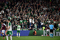 Football - 2021 / 2022 UEFA Europa League - Group H - Round Two - West Ham United vs Rapid Vienna - London Stadium - Thursday 30th September<br /> <br /> Rapid Vienna fans.<br /> <br /> COLORSPORT/Ashley Western