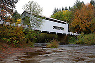 Wildcat covered bridge in fall.