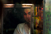 Performers of the Die Giah Dong Zian Sung Hiang chinese opera troupe, perform in the St Louis district of Bangkok.