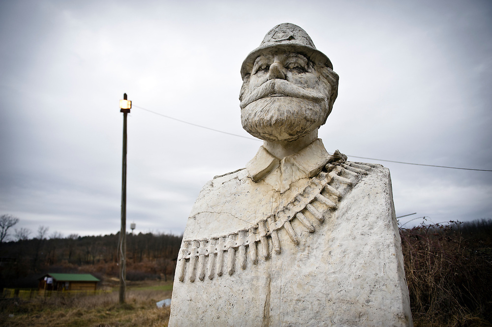 """Prekaz Village, Kosovo 19 February 2011<br /> National war hero Adem Jashar.<br /> Adem Jashari (November 28, 1955 - March 7,1998) was born in Prekaz, in the Drenica region of Kosovo. He is considered to be one of the chief architects of the Kosovo Liberation Army. Jashari was a chief commander in the Drenica operation zone of the KLA. He was killed in March 1998, along with most of his extended family, when Yugoslav security forces laid siege to his home in Prekaz.<br /> After the Kosovo War and the 1999 NATO bombing of Yugoslavia, the territory of Kosovo came under the interim administration of the United Nations Mission in Kosovo (UNMIK), and most of those roles were assumed by the European Union Rule of Law Mission in Kosovo (EULEX) in December 2008.<br /> In February 2008 individual members of the Assembly of Kosovo declared Kosovo's independence as the Republic of Kosovo. Its independence is recognised by 75 UN member states. On 8 October 2008, upon request of Serbia, the UN General Assembly adopted a resolution asking the International Court of Justice for an advisory opinion on the issue of Kosovo's declaration of independence.<br /> On 22 July 2010, the ICJ ruled that Kosovo's declaration of independence did not violate international law, which its president said contains no """"prohibitions on declarations of independence"""".<br /> Photo: Ezequiel Scagnetti"""