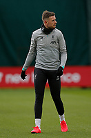Football - 2019 / 2020 season - Liverpool training & press conference pre-Atletico Madrid<br /> <br /> Jordan Henderson of Liverpool during today's open training session at Melwood ahead of tomorrow's Champions League match against Atletico, at Anfield.<br /> <br /> COLORSPORT/ALAN MARTIN
