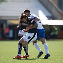 Falkirk's Lee Miller. Kilmarnock 4 v 0 Falkirk, second leg of the Scottish Premiership play-off final.
