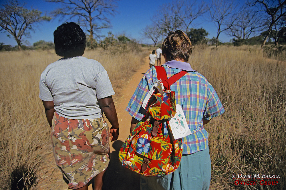Walking To Village