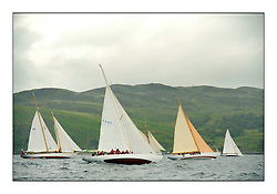 Day four of the Fife Regatta, race from Tighnabruaich to Portavadie<br /> <br /> The class one start at Tighnabruaich<br /> <br /> * The William Fife designed Yachts return to the birthplace of these historic yachts, the Scotland's pre-eminent yacht designer and builder for the 4th Fife Regatta on the Clyde 28th June–5th July 2013<br /> <br /> More information is available on the website: www.fiferegatta.com
