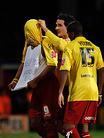 Photo: Daniel Hambury.<br />Crystal Palace v Watford. Coca Cola Championship. 31/03/2006.<br />Watford's Marlon King (L) celebrates his goal.