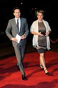 Koninkrijksconcert 2013 in het Circustheater in Scheveningen / Kingdom Concert 2013 at the Circus Theatre in Scheveningen<br /> <br /> Op de foto / On the photo:  Jeroen Dijsselbloem en partner