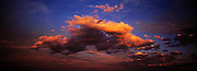 Fire Red Clouds at Sunset, Dudley Bluff, East Coast Australia