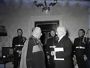 Alibrandi Right Reverent Monsignor Seatano, Albert Levame, Credentials been presented, Naunciture, 10-8-1956