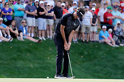 June 22, 2018 - Cromwell, CT, U.S. - CROMWELL, CT - JUNE 22: Bubba Watson of the United States putts on the 15th green during the Second Round of the Travelers Championship on June 22, 2018, at TPC River Highlands in Cromwell, Connecticut. (Photo by Fred Kfoury III/Icon Sportswire) (Credit Image: © Fred Kfoury Iii/Icon SMI via ZUMA Press)