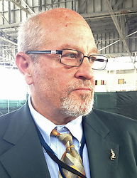 October 13, 2017 - USA - Defense attorney Rick Kammen sported a kangaroo lapel pin to the court's national security session on June 14, 2013, at the U.S. Navy base at Guantanamo Bay, Cuba, in a photo approved for release by the U.S. military. (Credit Image: © Carol Rosenberg/TNS via ZUMA Wire)