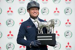 Jung Michael, (GER) with the Rolex Grand Slam Trophy<br /> CCI4* - Mitsubishi Motors Badminton Horse Trials 2016<br /> © Hippo Foto - Jon Stroud<br /> 06/05/16