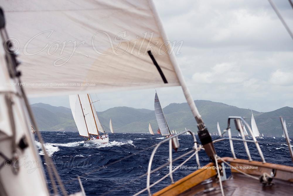 Sailing onboard Aurelius during the Antigua Classic Yacht Regatta, Cannon Race.