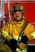 Portrait of a fireman.