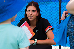 December 30, 2018 - Brisbane, AUSTRALIA - Ajla Tomljanovic of Australia signs autographs at the 2019 Brisbane International WTA Premier tennis tournament (Credit Image: © AFP7 via ZUMA Wire)