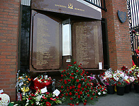 Fotball<br /> England<br /> Foto: Propaganda/Digitalsport<br /> NORWAY ONLY<br /> <br /> Liverpool, England - Sunday, April 15, 2007: The Hillsborough Memorial, with an eternal flame and the names of the 96 supporters who died at the Hillsborough Disaster during an FA Cup Semi-Final in 1989, outside Anfield.