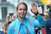 Aankomst  bij de openingswedstrijd van WEURO2017, het EK voetbal vrouwen gehouden in de Stadion Galgenwaard Utrecht<br /> <br /> Op de foto:  Sisca Folkertsma