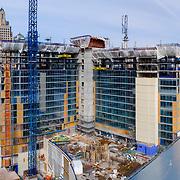 Loews Hotel under construction in downtown Kansas City, Missouri, March 2019.