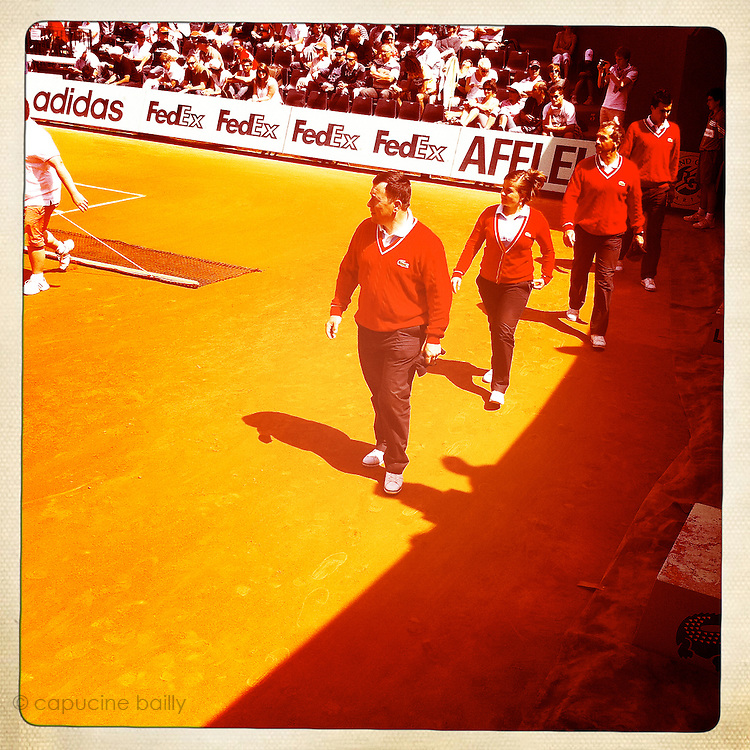 Roland Garros 2011. Paris, France. May 28th 2011..Juges on the court 1