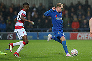 AFC Wimbledon midfielder Mitchell (Mitch) Pinnock (11) during the The FA Cup match between AFC Wimbledon and Doncaster Rovers at the Cherry Red Records Stadium, Kingston, England on 9 November 2019.