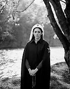 'Ex-Voto' is the culmination of a five-year photographic journey to Catholic pilgrimage sites in Ballyvourney, Ireland, Mount Grabarka, Poland, and Lourdes, France by award-winning<br /> photographer Alys Tomlinson. The book's title, Ex-Voto, refers to the physical offerings given in order to fulfil a vow – humble objects such as handmade wooden crosses and pages torn from notebooks – which connect the pilgrim with the landscape. Our job was to produce print ready high resolution black and white scans from 5'x4' negatives. Design by GOST