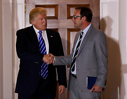 Chicago Cubs owner Todd Ricketts, leaves the clubhouse of Trump International Golf Club, after meeting with President-elect Donald Trump (L) and Vice President-elect Mike Pence, November 19, 2016 in Bedminster Township, New Jersey. (Aude Guerrucci / Pool)