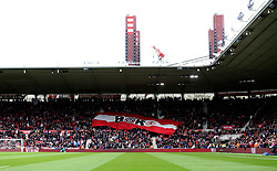 A flag is passed around the Middlesbrough fans - Mandatory by-line: Robbie Stephenson/JMP - 19/03/2017 - FOOTBALL - Riverside Stadium - Middlesbrough, England - Middlesbrough v Manchester United - Premier League