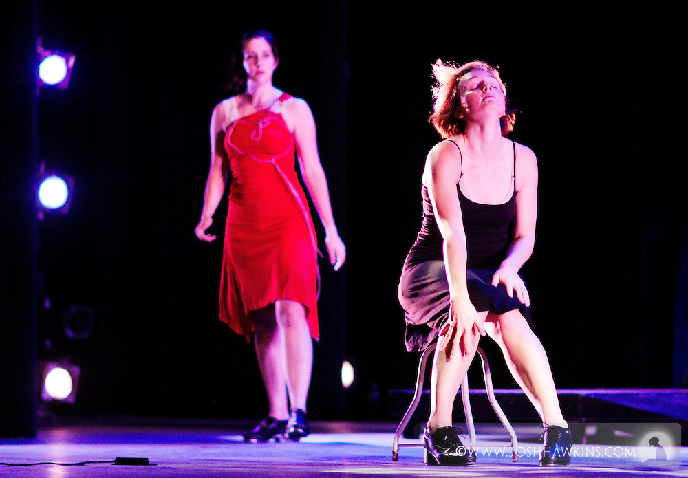 Chicago Tap Theatre - Tap!(ish).(Dis)Connected, choreography by Mark Yonally.Dancer, Kendra Jorstad & Jenna Deidel