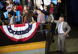 October 28, 2016 - Florida, U.S. - LOREN ELLIOTT   |   Times .Orlando Mayor Buddy Dyer is seen before President Obama spoke at a Hillary Clinton campaign rally at the University of Central Florida in Orlando on Friday, Oct. 28, 2016. (Credit Image: © Loren Elliott/Tampa Bay Times via ZUMA Wire)