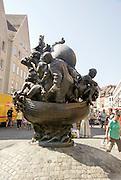 The Ship of fools by Juergen Weber, Konig Street, Nuremberg, Bavaria, Germany