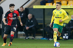 Max Aarons of Norwich City- Mandatory by-line: Phil Chaplin/JMP - 28/11/2020 - FOOTBALL - Carrow Road - Norwich, England - Norwich City v Coventry City - Sky Bet Championship