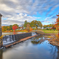 Massachusetts fall foliage colors at the Framingham Number One Dam and Gatehouse at Stearns Reservoir in Framingham, MA. <br /> <br /> Massachusetts Framingham Number One Dam and Gatehouse fall foliage photography images are available as museum quality photo, canvas, acrylic, wood or metal prints. Fine art prints may be framed and matted to the individual liking and interior design decoration needs:<br /> <br /> https://juergen-roth.pixels.com/featured/massachusetts-fall-foliage-at-the-framingham-number-one-dam-and-gatehouse-juergen-roth.html<br /> <br /> Good light and happy photo making!<br /> <br /> My best,<br /> <br /> Juergen