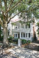 Elegant architecture, Charleston South Carolina,USA. Shady streets and southern charm.