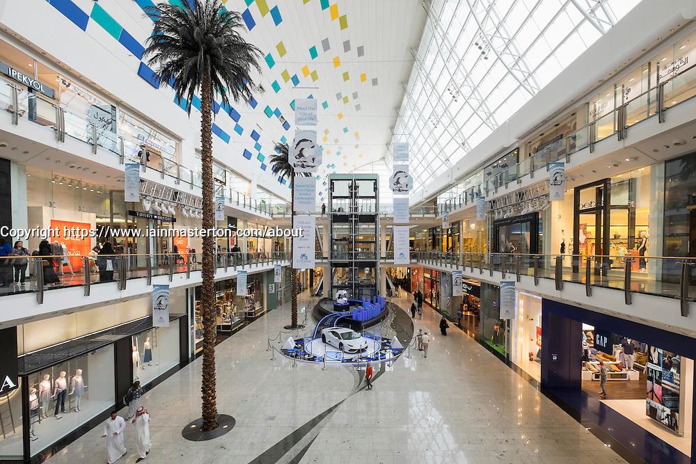 Interior of City Centre Mall  in Manama Kingdom of Bahrain