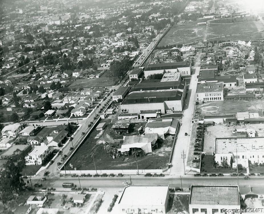 1926 Aerial photo of FBO Studios on Gower St.