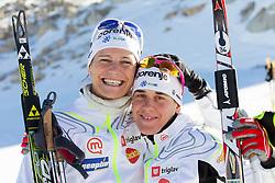 Katja Visnar and Barbara Jezersek during Training camp of Slovenian Cross country Ski team on October 23, 2012 in Dachstein Getscher, Austria. (Photo By Vid Ponikvar / Sportida)