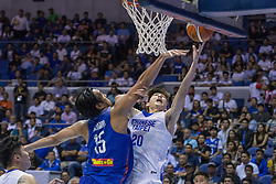 November 27, 2017 - Cubao, Quezon City, Philippines - Po-Hsun Chou scored his only field goal against June Mar Fajardo.Gilas Pilipinas defended their home against Chinese Taipei. Game ended at 90 - 83. (Credit Image: © Noel Jose Tonido/Pacific Press via ZUMA Wire)