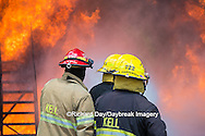 63818-02610 Firefighters at oilfield tank training, Marion Co., IL